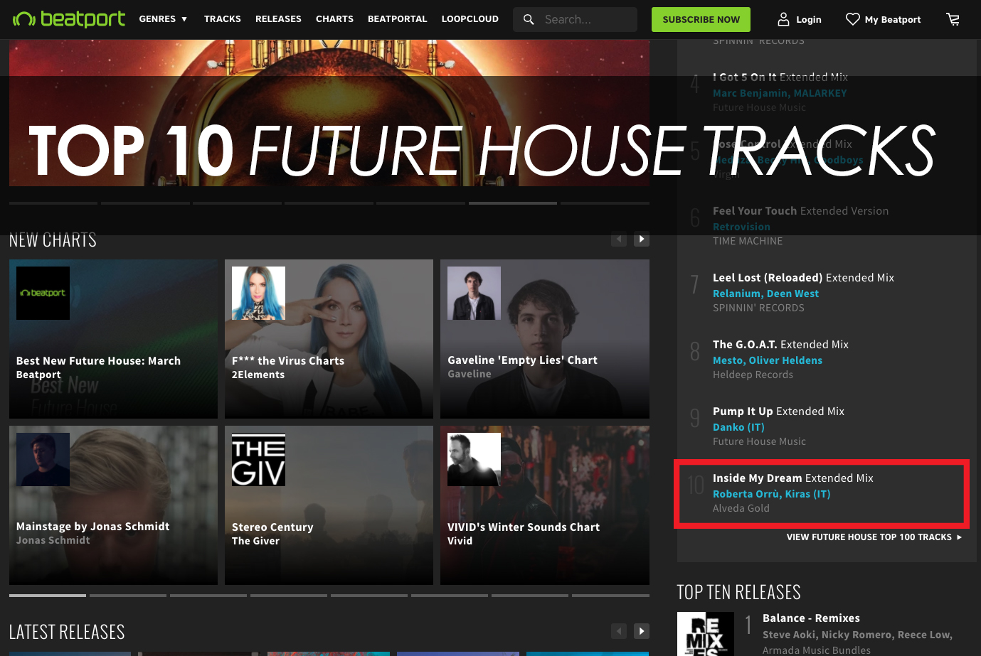 """Inside My Dream"" by Kiras is Top 10 on Beatport Future House tracks!"